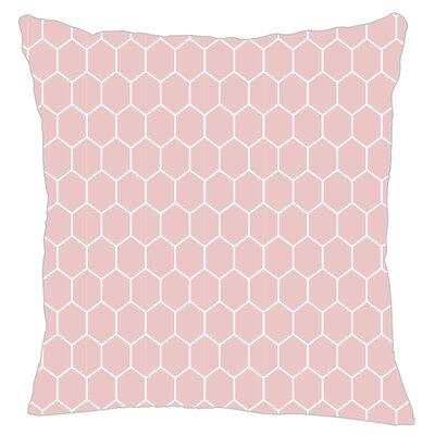 Mosaic Throw Pillow Color: Pink
