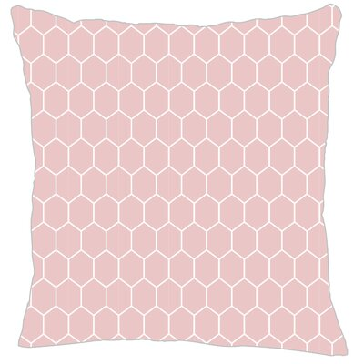 Mosaic Throw Pillow Color: Pink