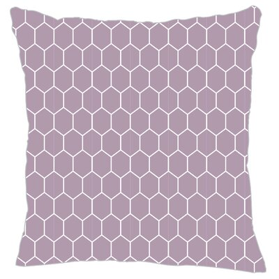 Mosaic Throw Pillow Color: Lilac
