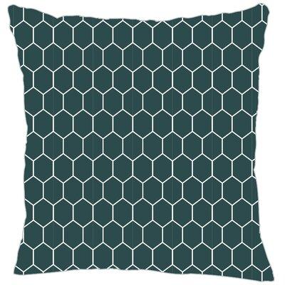 Mosaic Throw Pillow Color: Teal
