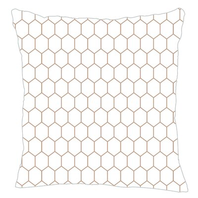 Mosaic Throw Pillow Color: Light Brown