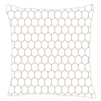 Mosaic Throw Pillow Color: Light Brown
