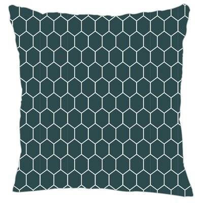 Mosaic Throw Pillow Color: Teal