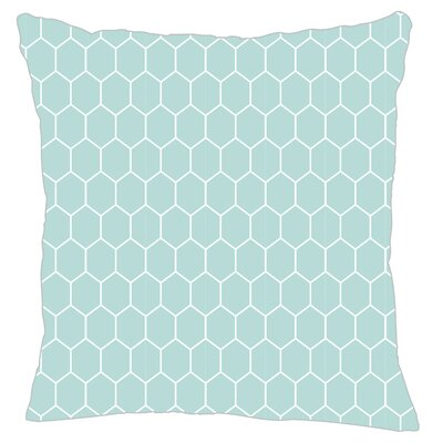 Mosaic Throw Pillow Color: Light Blue