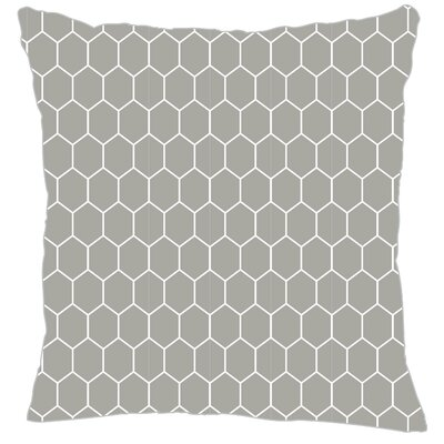 Mosaic Throw Pillow Color: Gray