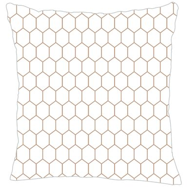 Mosaic Throw Pillow Color: Light Brown Fine