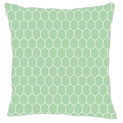 Mosaic Throw Pillow Color: Mint