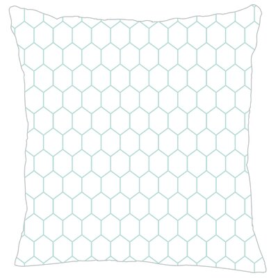 Mosaic Throw Pillow Color: Light Blue Fine