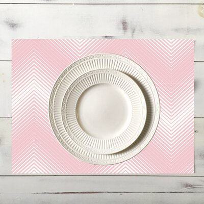 Chevron Placemat Color: Pink place_chev_18x12_Pink