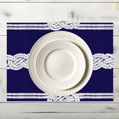 Nautical Ropes Placemat Color: Navy | 50 Nautical Inspired Ideas For Home Decor | Inexpensive Nautical Decor | DIY Home Decor | theMRSingLink