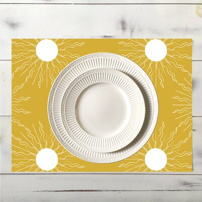 Sun Placemat Color: Yellow place_sun_18x12_Yellow