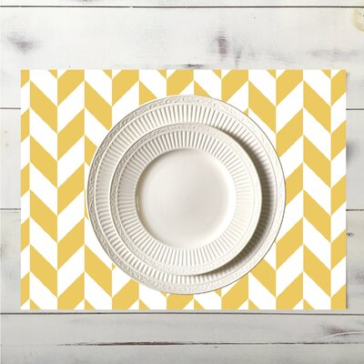 Zig Placemat Color: Yellow place_zig_18x12_Yellow
