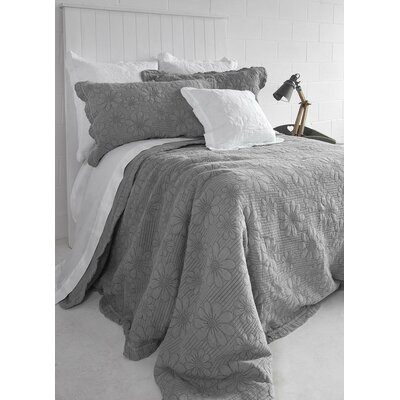 Organic Quilted Duvet Cover Set Color: Gray, Size: Double/Queen