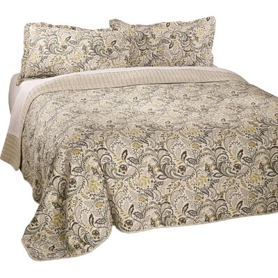 Antik Honey Reversible Quilt Set Size: Double/Queen