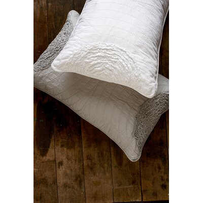 Amore Cotton Throw Pillow Color: White