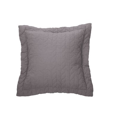 Unik Cotton Throw Pillow Color: Charcoal