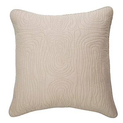 Log Cotton Euro Pillow Color: Greige