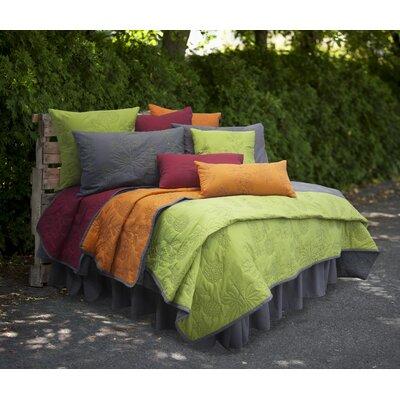 Gelato Cotton Lumbar Pillow Color: Red