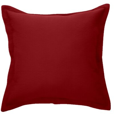 Bungalow Microfiber Throw Pillow Color: Red