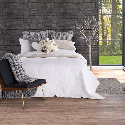 Lino Reversible Coverlet Size: Double/Queen