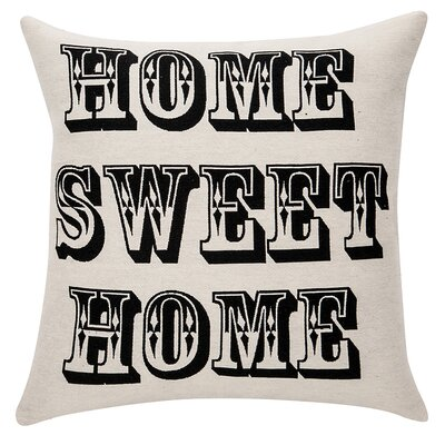 Deco Home Sweet Home Cotton Throw Pillow