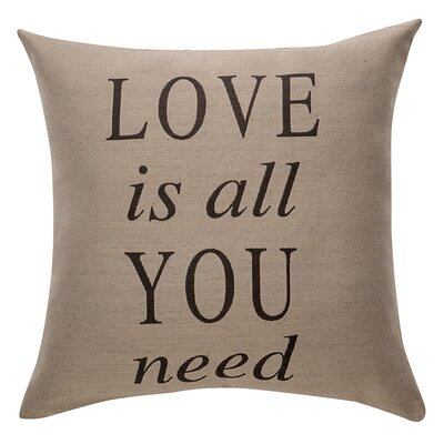 Deco Love Is All You Need Cotton Throw Pillow