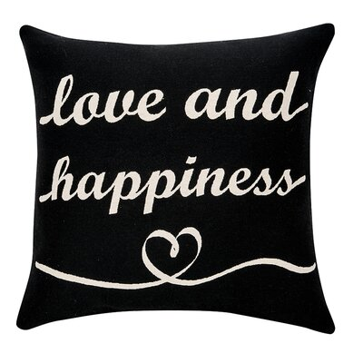 Deco Love and Happiness Cotton Throw Pillow