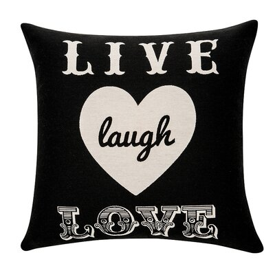 Deco Live Laugh Love Cotton Throw Pillow
