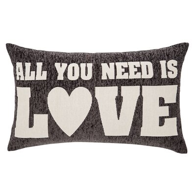 Deco All You Need Is Love Cotton Lumbar Pillow