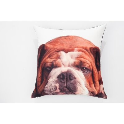 Woof Roger Throw Pillow