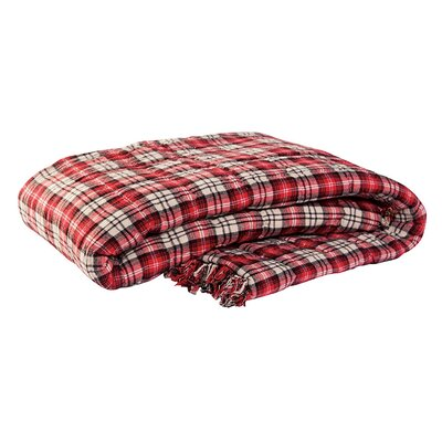 Mountain 100% Cotton Throw Blanket Color: Red