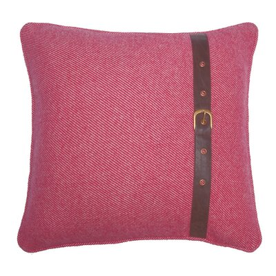Wool Throw Pillow Color: Red