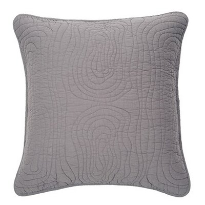 Log Cotton Euro Pillow Color: Gray