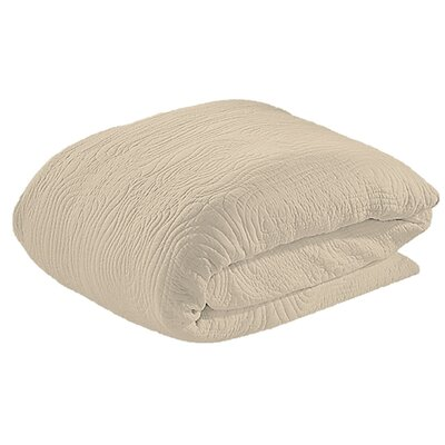 Log Duvet Cover Set Size: Twin, Color: Greige