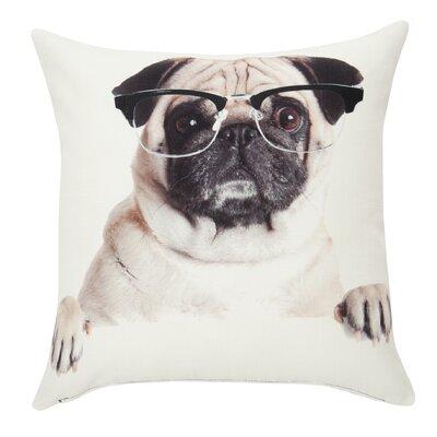 Woof Bernard Throw Pillow
