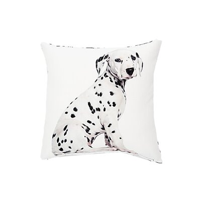 Woof Dalmatian Throw Pillow