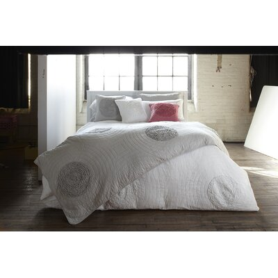 Amore Quilted Duvet Cover Set Size: Twin, Color: Gray