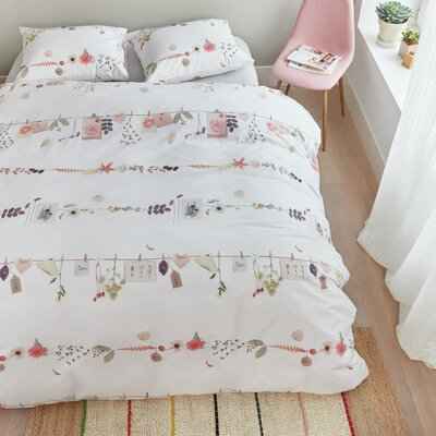Floral 3 Piece Duvet Cover Set
