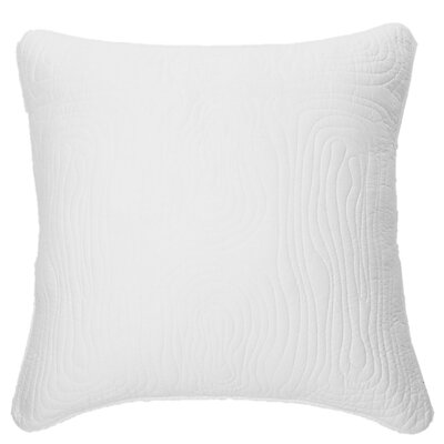 Log Cotton Euro Pillow Color: White