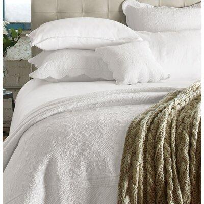 Carmen Quilt Set Size: Twin, Color: White