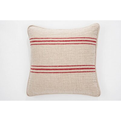 Eastampton 100% Cotton Throw Pillow Color: Red