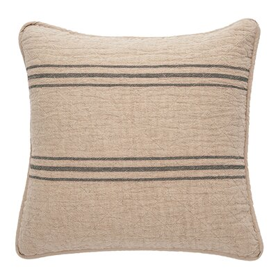 Eastampton 100% Cotton Throw Pillow Color: Charcoal