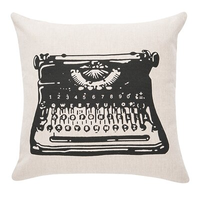 Dunbar Typewriter 100% Cotton Throw Pillow