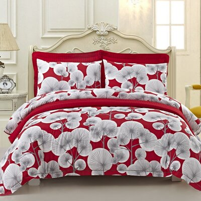 Beth 6 Piece Duvet Cover Set Size: Queen