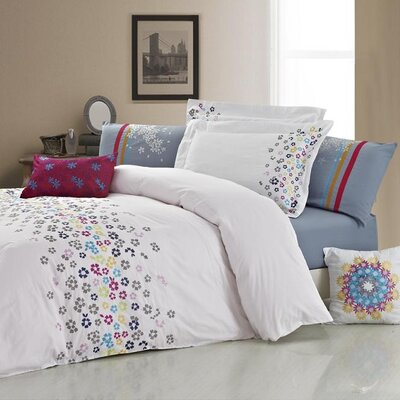 Chandra 5 Piece Comforter Set Size: King
