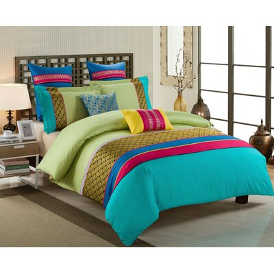 Devona 5 Piece Comforter Set Size: King