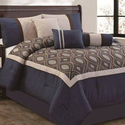 Albany 7 Piece Comforter Set Size: King