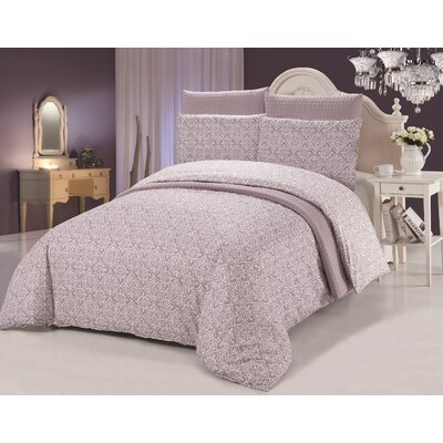 Tiles 6 Piece Reversible Duvet Cover Set Size: Queen