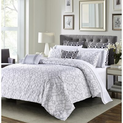 Berrywood 3 Piece Duvet Cover Set Size: King