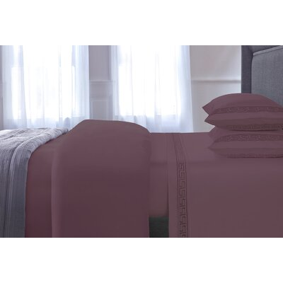 Chasing 3 Piece Duvet Cover Set Color: Purple, Size: King